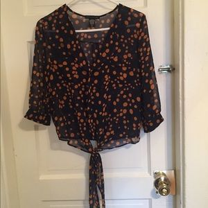 Patterned shear dress shirt